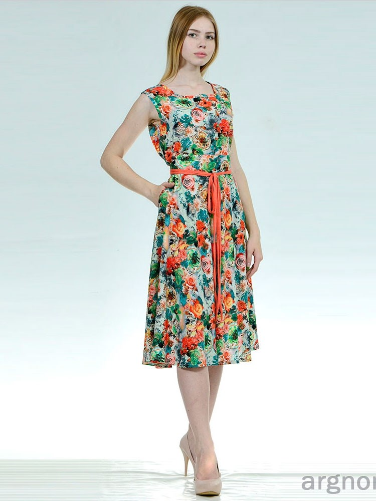 a1cc708b7dd98af Летнее платье из штапеля Арт.- Ш627 | Интернет магазин ArgNord.ru