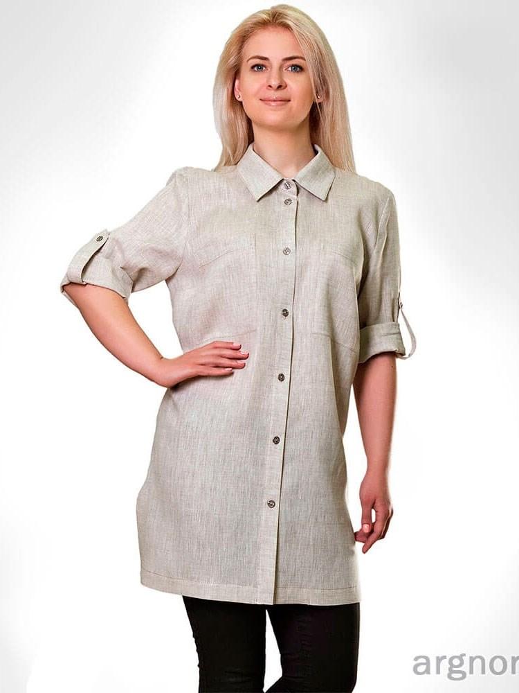 9587d039da0 Женская льняная рубашка - фото 31251
