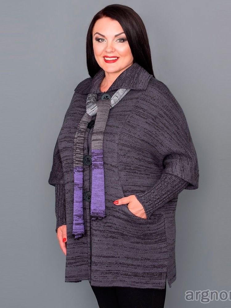 вязаное пальто полушерсть арт 17059 интернет магазин Argnordru