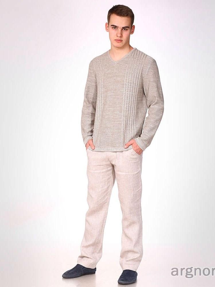 d8c1bd38b34e2fb Мужские брюки изо льна Арт.- Ш631-16/сер | Интернет магазин ArgNord.ru