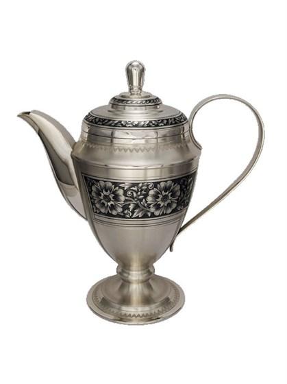 Кофейник серебряный - фото 19730