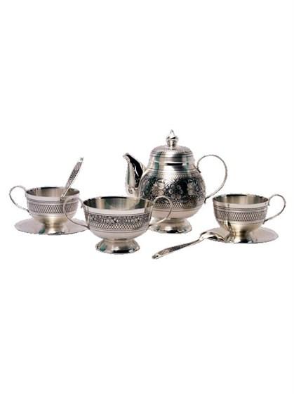Серебряный чайный сервиз - фото 19748