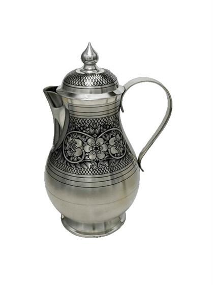 Кофейник серебряный - фото 19754