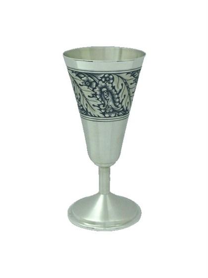 Бокал серебряный для водки - фото 19765