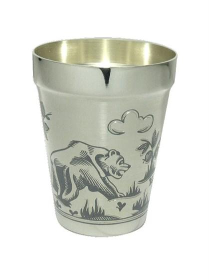 """Стопка серебряная """"Медведь"""" - фото 19813"""