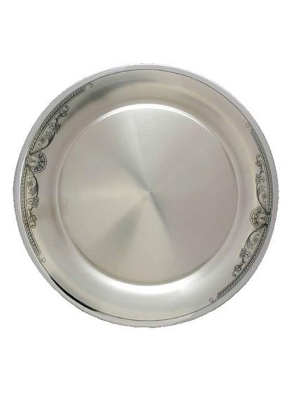 Серебряная тарелка подставочная - фото 19846