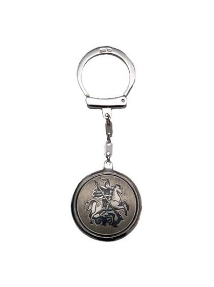 Брелок серебряный для ключей - фото 19862