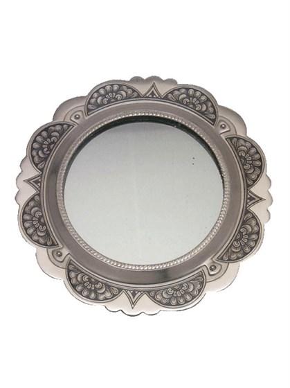 Зеркало серебряное - фото 19866