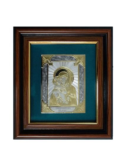 Икона серебряная Владимирская Пресвятой Богородицы - фото 19916