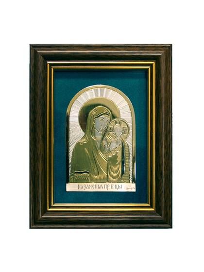 Икона серебряная Казанская Пресвятой Богородицы - фото 19919