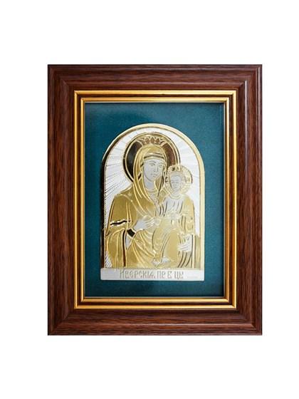 Икона серебряная Пресвятой Богородицы Иверская - фото 19924