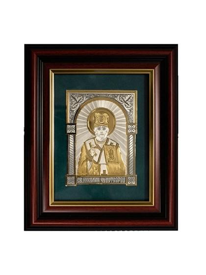 Икона серебряная Николай Чудотворец - фото 19927