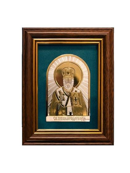Икона серебряная Николай Чудотворец - фото 19930