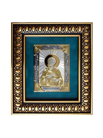 Икона серебряная Целитель Пантелеймон - фото 19936