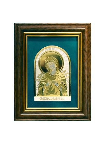 Икона серебряная Пресвятой Богородицы Семистрельная - фото 19942
