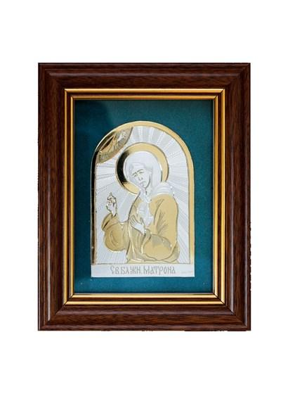 Икона серебряная Блаженная Матрона - фото 19957