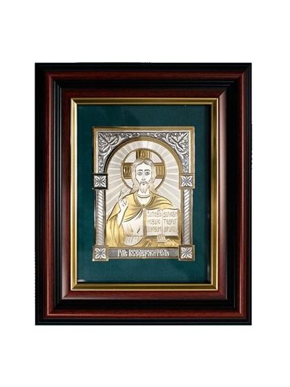 Икона серебряная Господь Вседержитель - фото 19966