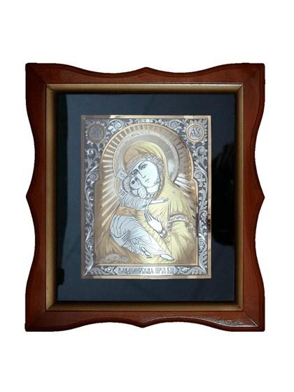 Икона серебряная Владимирская Пресвятой Богородицы - фото 19969