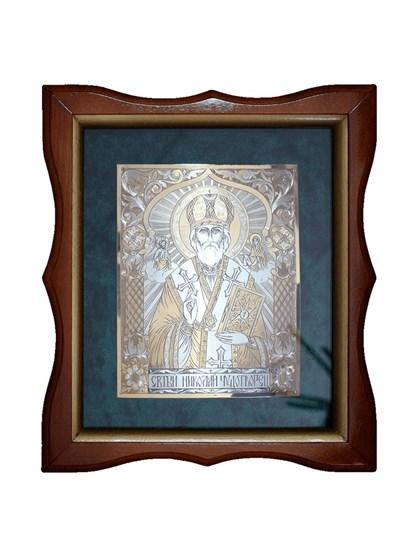 Икона серебряная Николай Чудотворец - фото 19971
