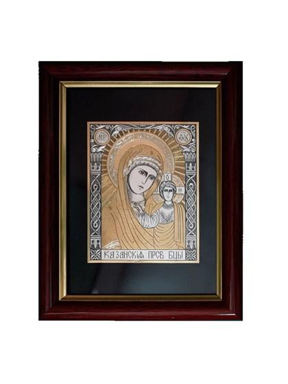 Икона серебряная Казанская Пресвятой Богородицы - фото 19973
