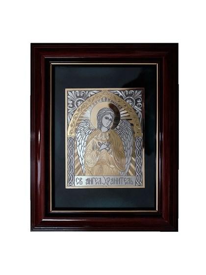Икона серебряная Святой Ангел Хранитель - фото 19977