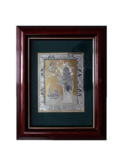 Икона серебряная Святая блаженная Ксения Петербургская - фото 19979