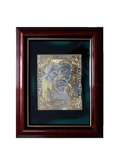 Икона серебряная Святое Семейство - фото 19981