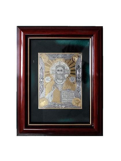 Икона серебряная Спаситель - фото 19985