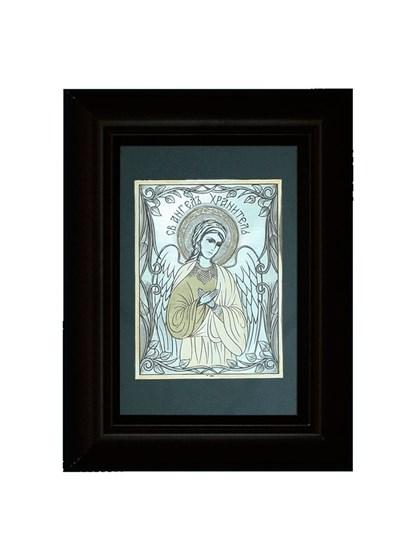 Икона серебряная Святой Ангел Хранитель - фото 19987
