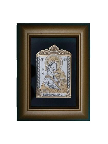 Икона серебряная Владимирская Пресвятой Богородицы - фото 19989
