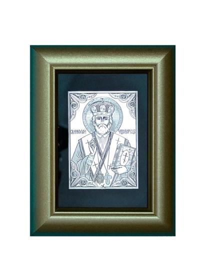 Икона серебряная Николай Чудотворец - фото 19993
