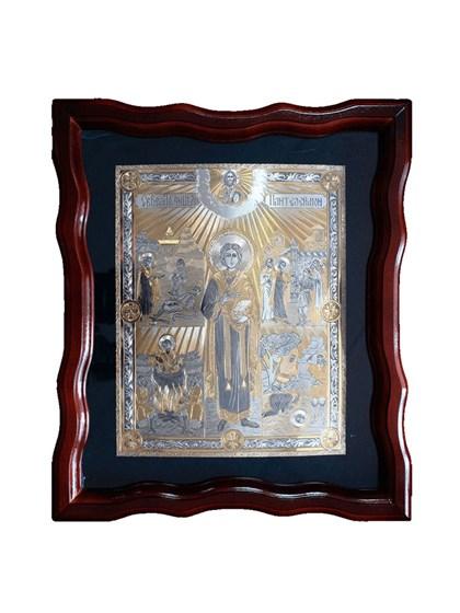 Икона серебряная Целитель Пантелеймон - фото 19998