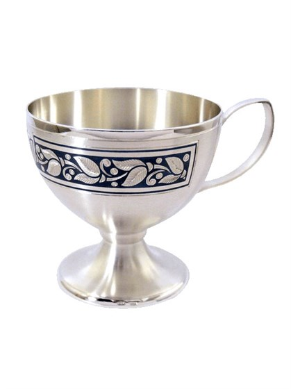 Серебряная кофейная чашка - фото 20360