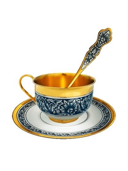 Серебряный чайный сервиз - фото 20389