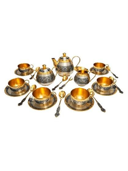 Серебряный чайный сервиз - фото 20411