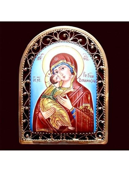 Икона финифть Пресвятая Богородица Владимирская - фото 20467