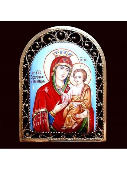 Икона финифть Пресвятая Богородица Скоропослушница - фото 20469