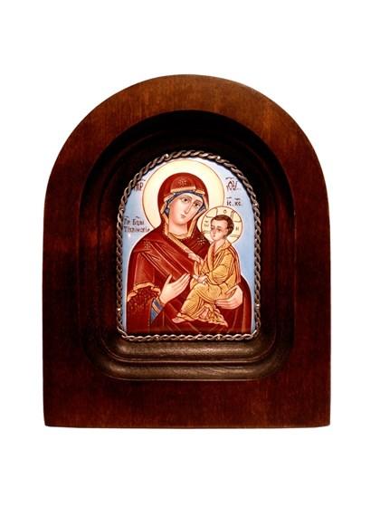 Икона финифть Пресвятая Богородица Тихвинская - фото 20473