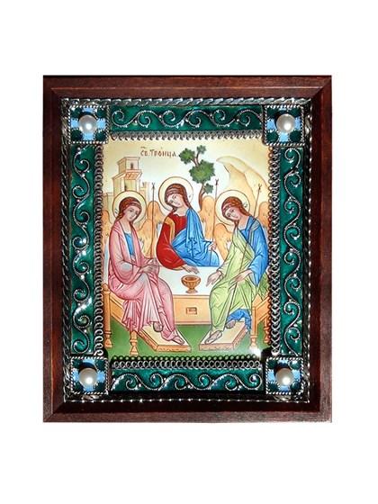 Икона финифть Святая Троица - фото 20477