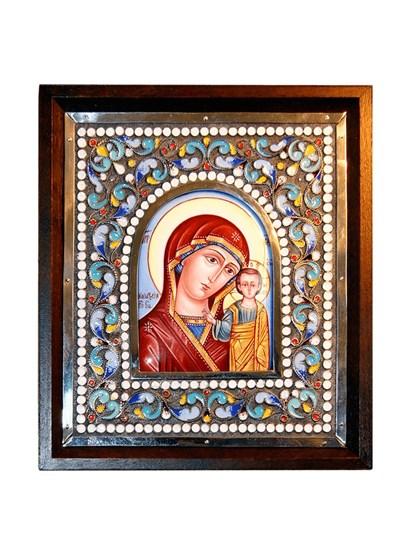 Икона финифть Пресвятая Богородица Казанская - фото 20478