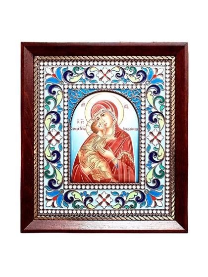Икона финифть Пресвятая Богородица Владимирская - фото 20479