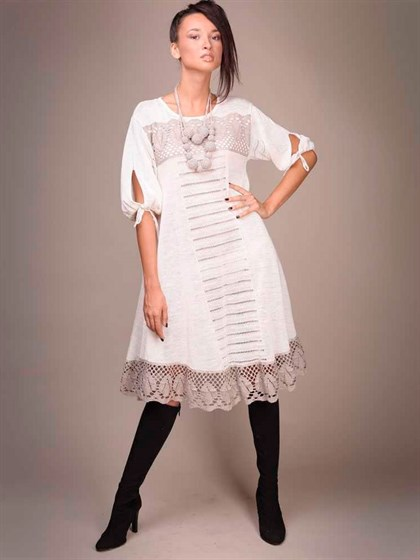 Платье льняное - фото 20495