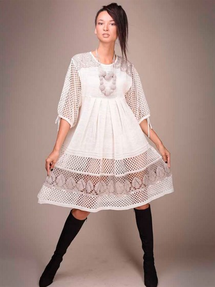 Платье льняное - фото 20497