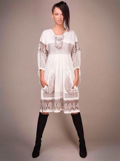 Платье льняное - фото 20501