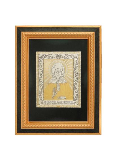 Икона серебряная Блаженная Матрона - фото 20638