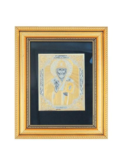 Икона серебряная Николай Чудотворец - фото 20642