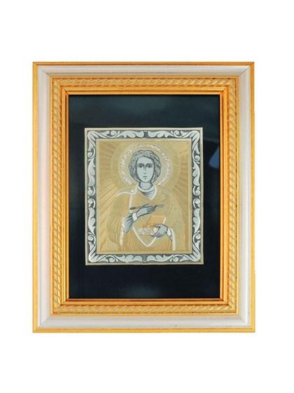 Икона серебряная Целитель Пантелеймон - фото 20644