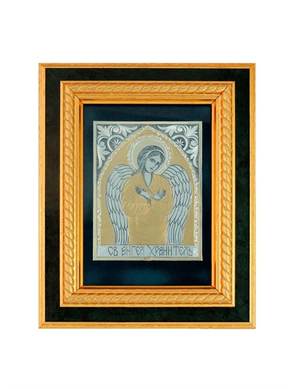 Икона серебряная Святой Ангел Хранитель - фото 20650