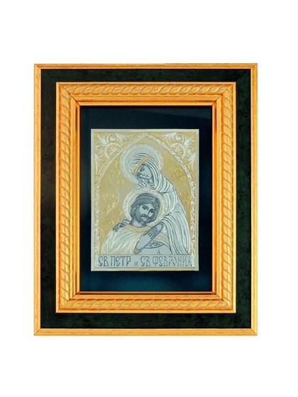 Икона серебряная Святые Петр и Февронья - фото 20654