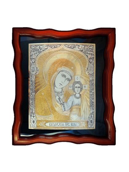 Икона серебряная Пресвятой Богородицы Казанская - фото 20658